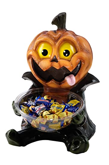 Amazon.com: Halloween Candy Bowl Holder, Pumpkin Jack-O-Lantern ...