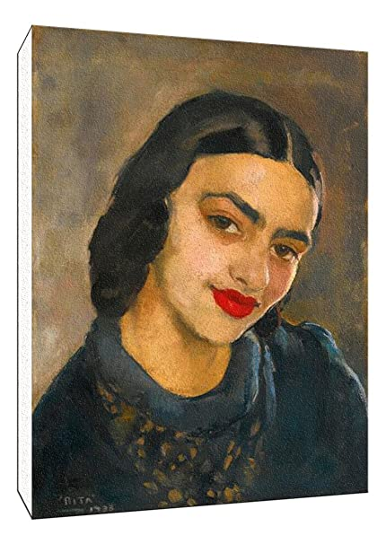 87bf6901475a Amrita Sher-Gil Self Portrait Collection - Indian Art Collection - Self  Portrait - Medium Size Premium Quality Gallery Wrapped Wall Art Print ...