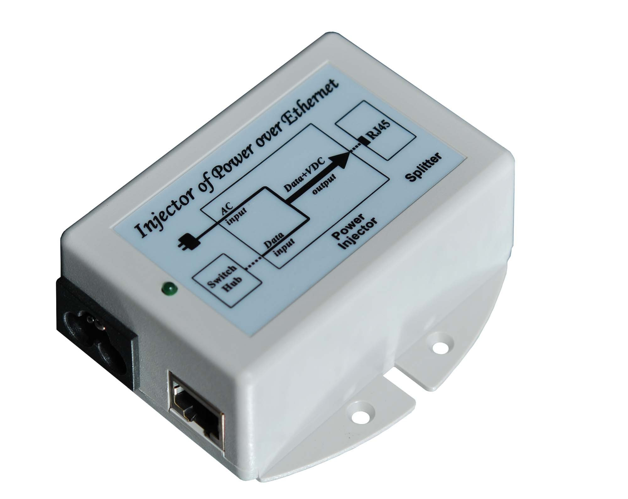 TYCON SYSTEMS TP-POE-48G 48V 24W Gigabit Passive POE Inserter Computer Surge Protector
