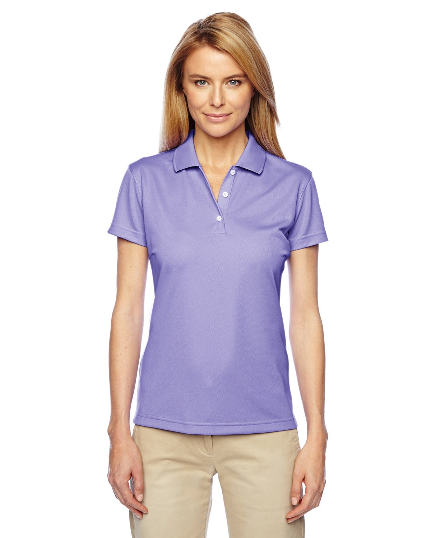 adidas Women's Climalite Performance Basic Knit Polo Shirt, LT Flash/Black, S