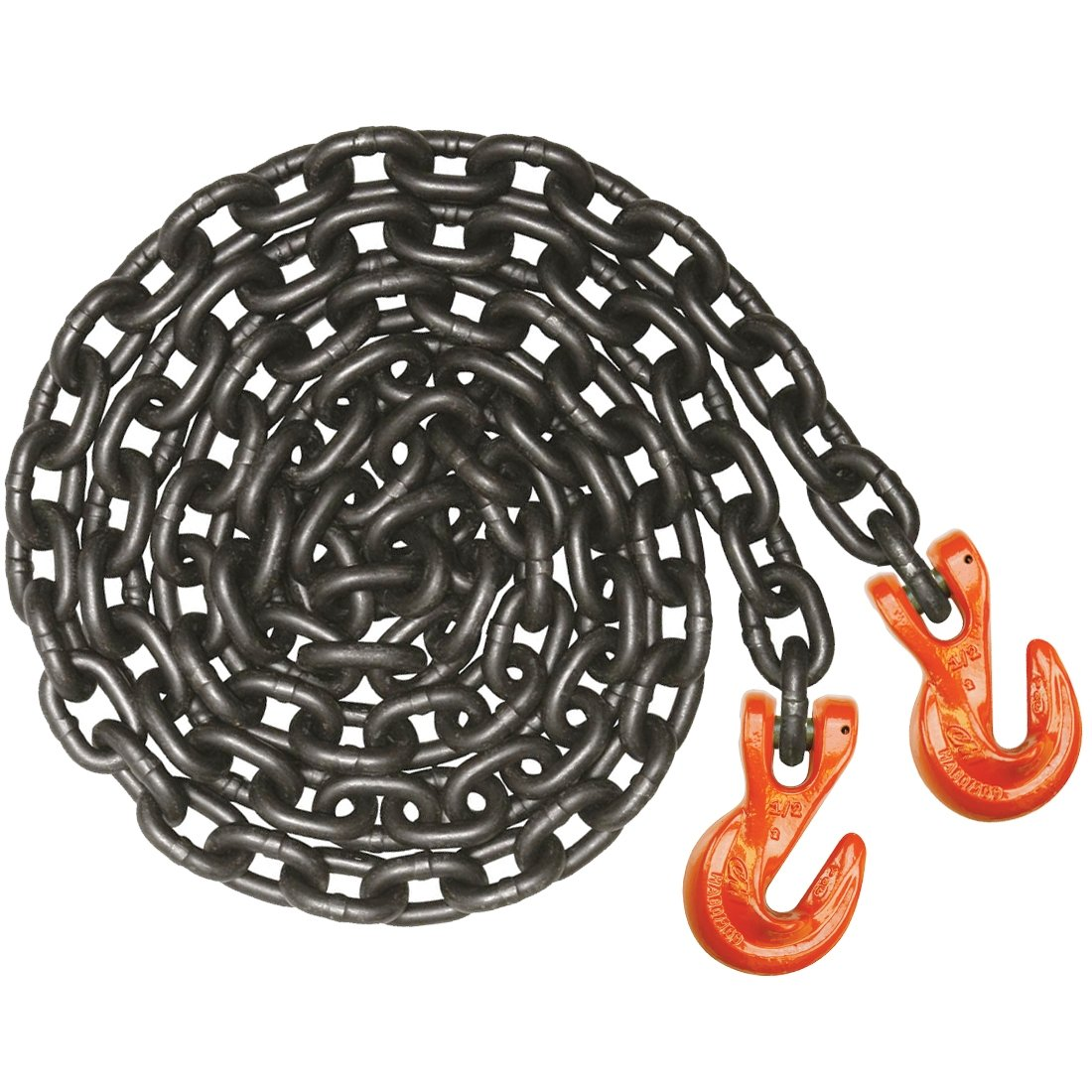 VULCAN PROSeries Grade 100 Super Duty Safety Chain With Clevis Grab Hooks - 15,000 lbs. Safe Working Load (1/2'' x 10')