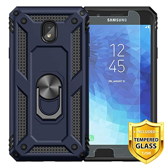 TJS Case Compatible for Samsung Galaxy J2 Core/Galaxy J2 2019/Galaxy J2 Pure, with [Tempered Glass Screen Protector][Impact Resistant][Defender][Metal ...