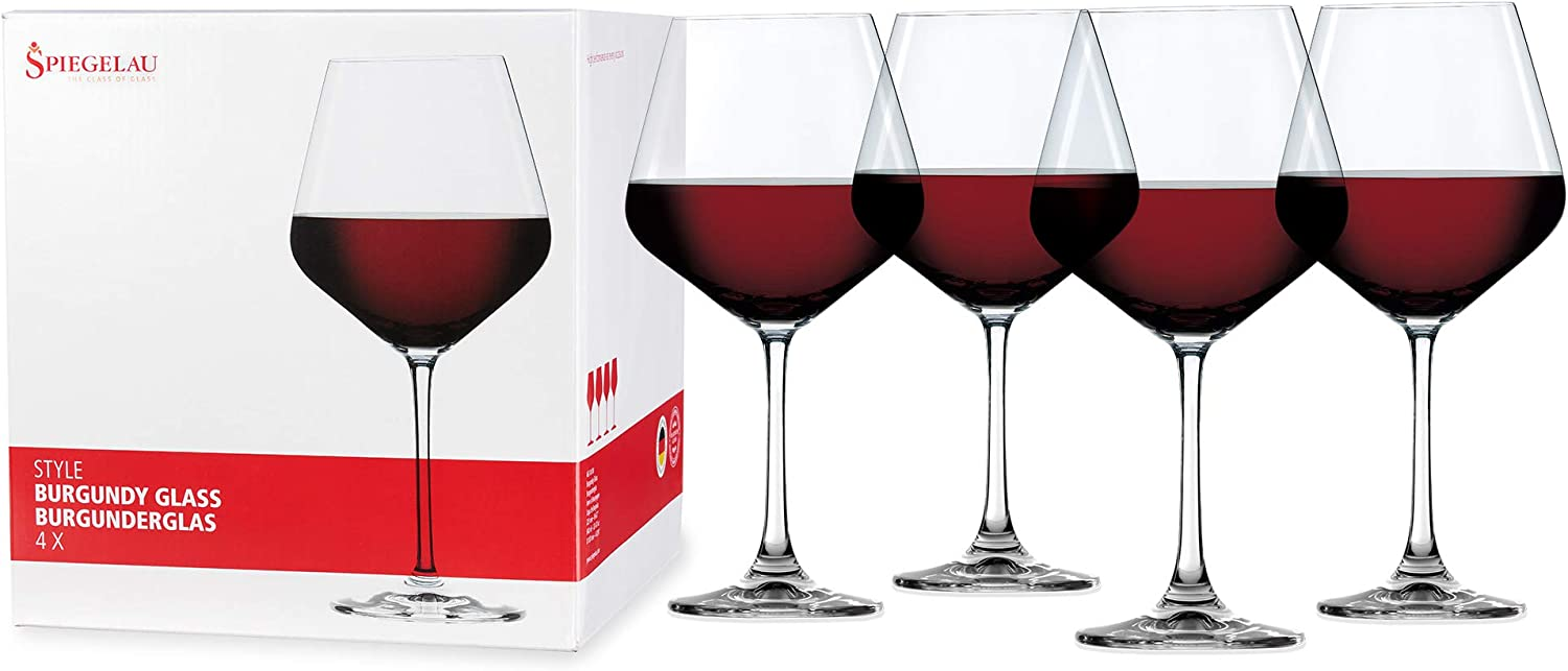 Spiegelau 4670180 Style Burgundy Wine Glasses Set Of 4 Clear Amazon Ca Home Kitchen