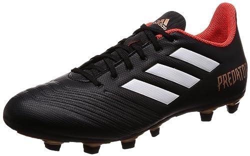 6e3f014e2109 Adidas Men s Predator 18.4 FxG Cblack Ftwwht Solred Football Boots - 9 UK