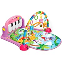 Techhark Kick and Play Multi-Function ABS High Grade Plastic Piano Baby Gym and Fitness Rack, 50 x 37.2 x 8.4 cm (Pink)