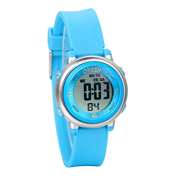 Avaner Reloj para Niños Digital Reloj Deportivo Digital para Aire Libre, Azul Reloj Infantil De Colores, Reloj Pequeño 5ATM A Prueba de Agua, Buen Regalo: ...