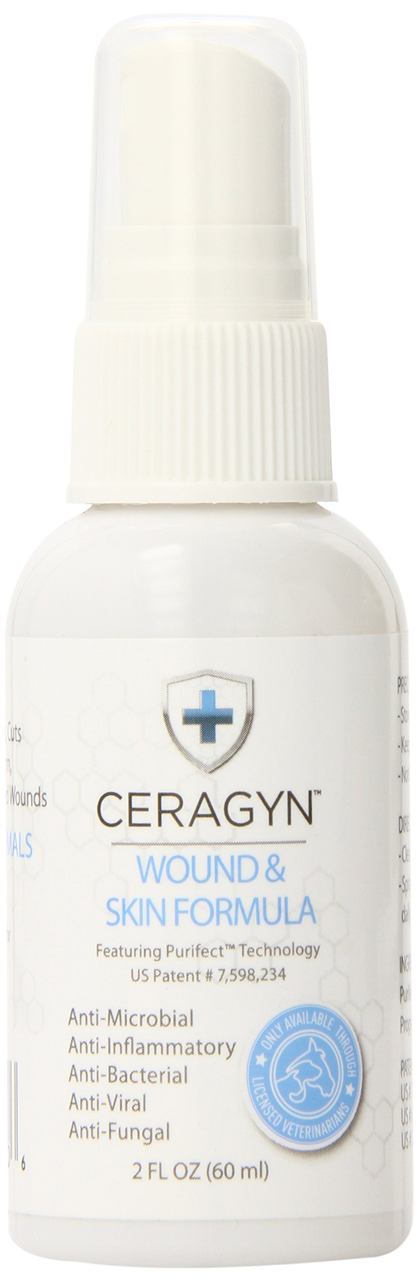 Ceragyn Wound and Skin Formula for Pets, 2-Ounce by Ceragyn