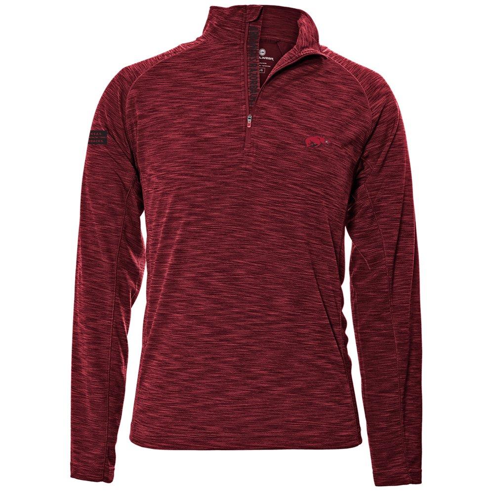 Levelwear LEY9R NCAA クオータージッププルオーバー ストロングスタイル ミッドレイヤー B074PDGJ3M Large|レッド|Arkansas Razorbacks レッド Large