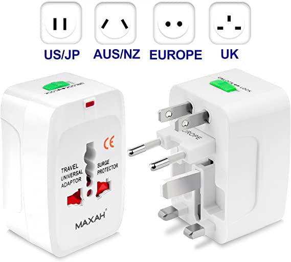1* Universal Power Outlet Adapter Electric Converter US//AU//UK//EU Travel Plug