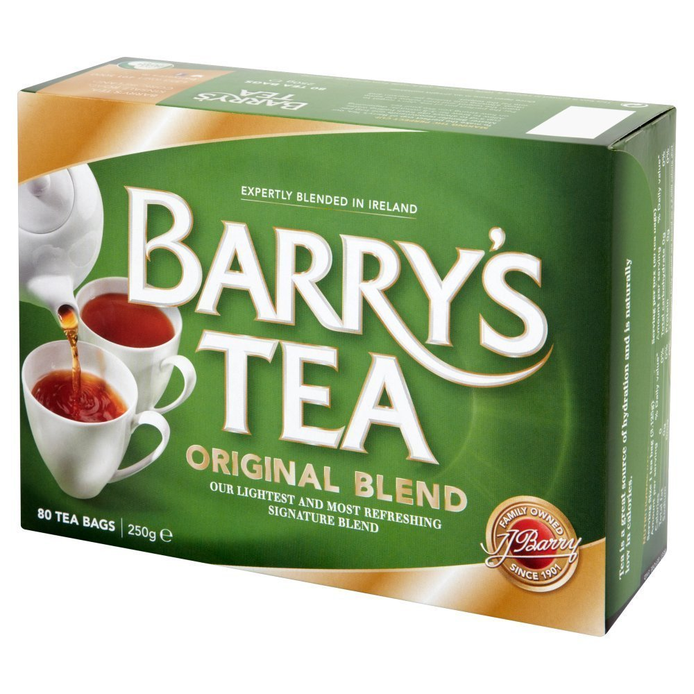 Barry's Tea Original Blend 80 Teabag (6 Pack), 6 x 8.8oz, Direct from Barry's Tea in Cork, Ireland by Barry's Tea