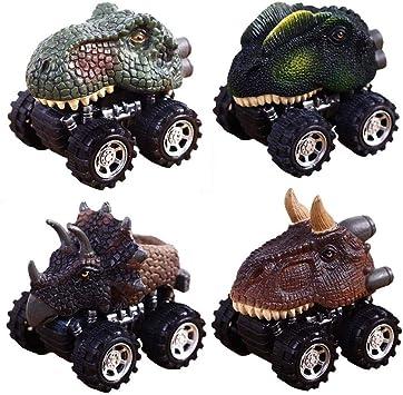 CYMY Coches de Juguete de Dinosaurio para Niños Pequeños, Dinosaurio Pull Back Coches para Los Regalos