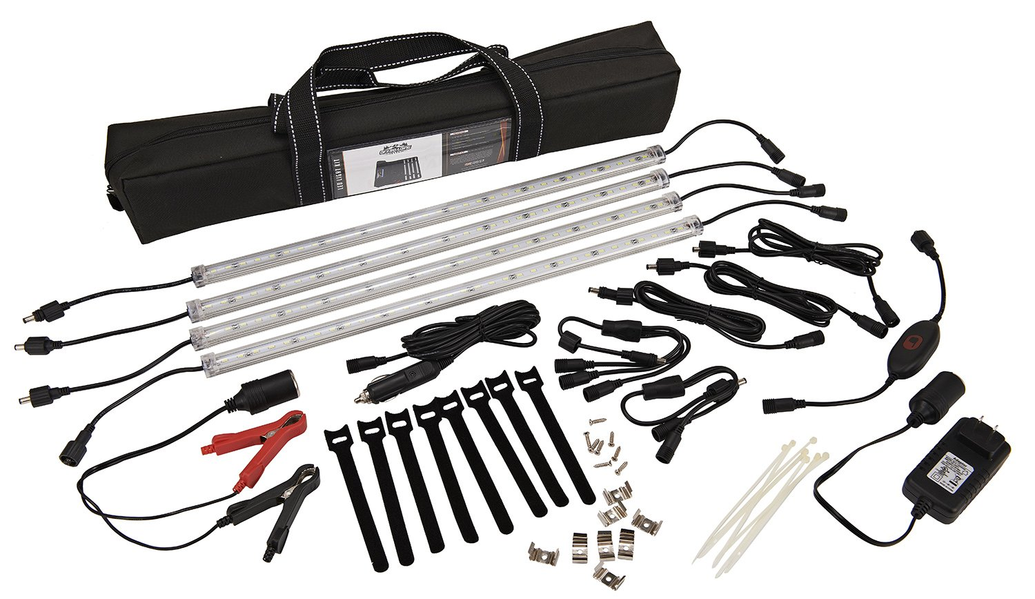13 Piece LED Strip Lighting Kit, Portable and for Camping/Patio/RVs/Outdoor,
