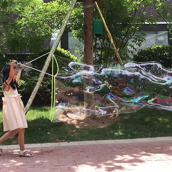 Varita de burbujas gigante para fiestas de Ubitree, hecha de acero inoxidable con diseño telescópico, fácil de transportar, para usar al aire libre .