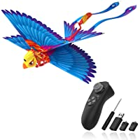 Go Go Bird Flying Toy,Mini RC Flying Bird Helicopters,Bionic Flying Bird,Mini Drone-Tech Toy,Remote Control Flying Toys,Easy Indoor Outdoor Small Flying Toys for Kids, Boys and Girls,Blue
