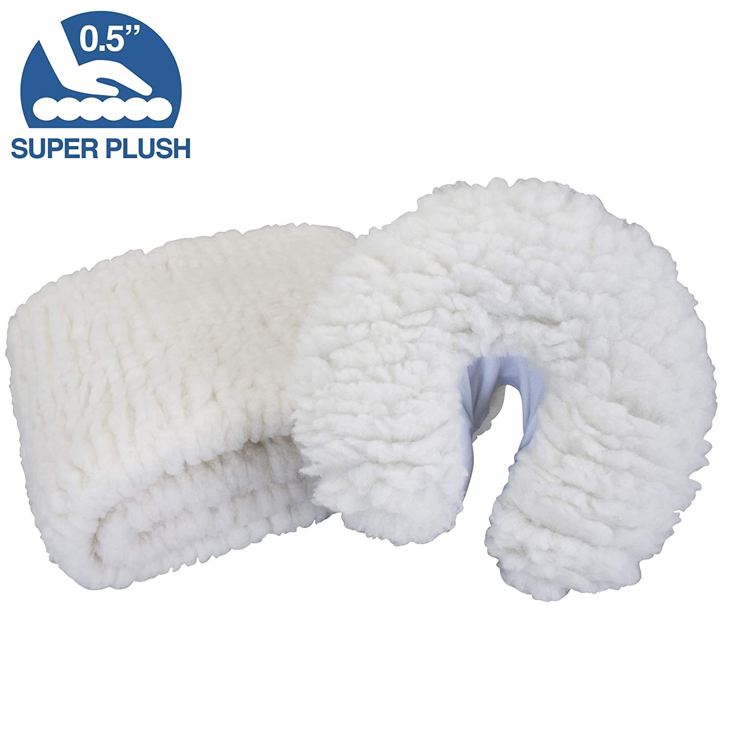 EARTHLITE Massage Table Fleece Pads – Different Styles & Sets - Cover Your Massage Table & Face Cradles in Cozy, Warm Fleece