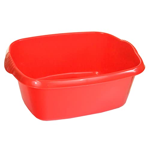 Wham Colour Works High Grade Rectangular Washing Up Bowl Basin Kitchen Mixing (Red)