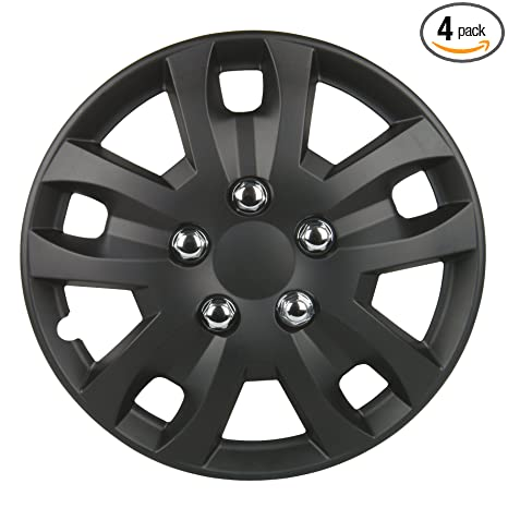 Amazon.com: Unitec 74858 Sepang Wheel Cover Set 16 -inch - Black ...