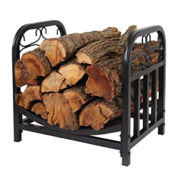 Patio Watcher Decorative Metal Firewood Rack Log Rack Wood Storage Log  Holder Log Bin Indoor Outdoor