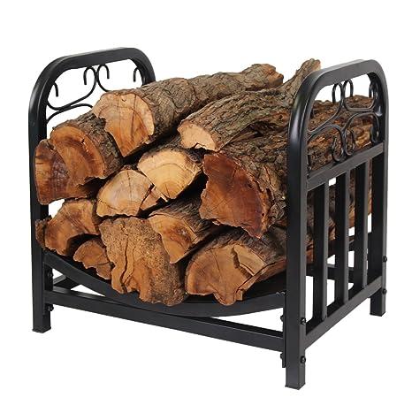 Patio Watcher Decorative Metal Firewood Rack Log Rack Wood Storage Log  Holder Log Bin Indoor Outdoor