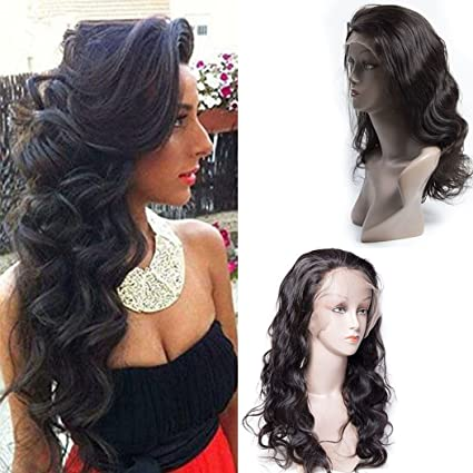 Maxine Cabello humano Lace Front Peluca de pelo pelucas en estado natural Virgin brasileño cuerpo Wave