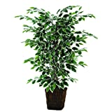 Vickerman 4' Artificial Variegated Focus Bush in