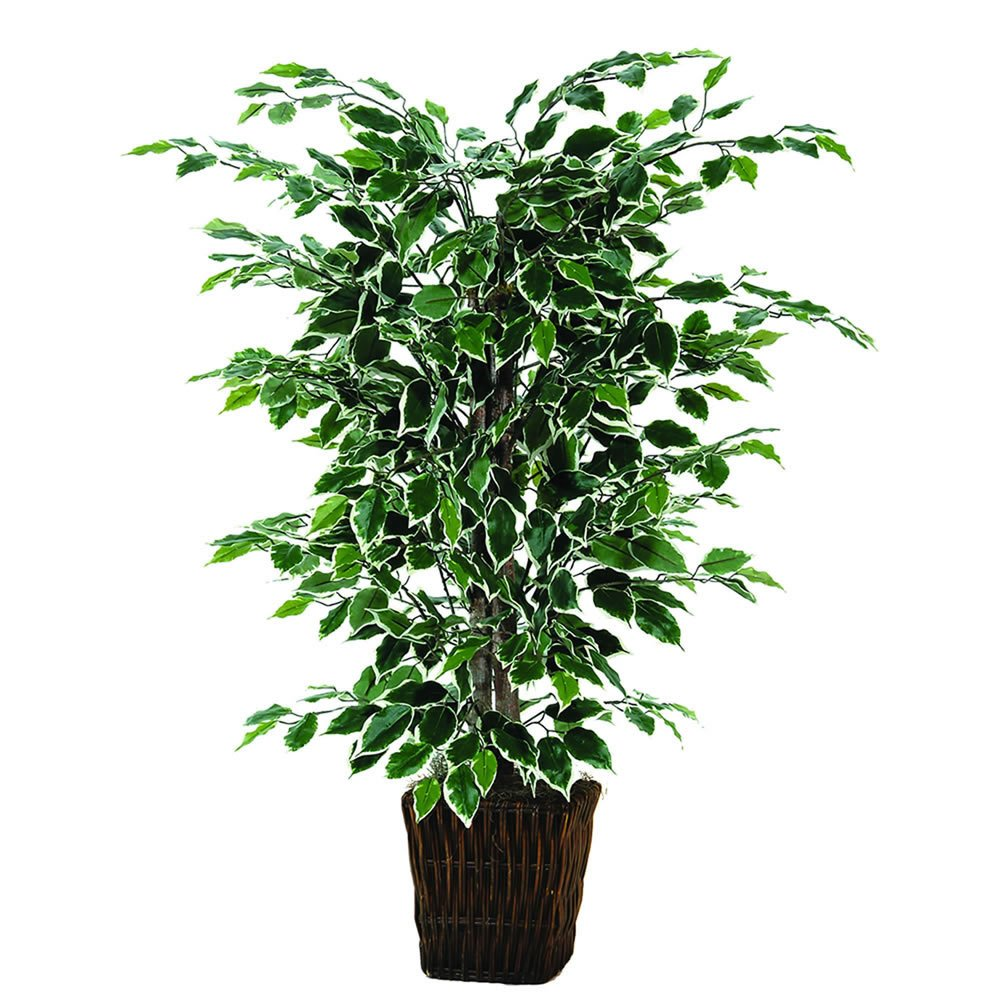 Vickerman 4' Artificial Variegated Focus Bush in Square Willow by Vickerman