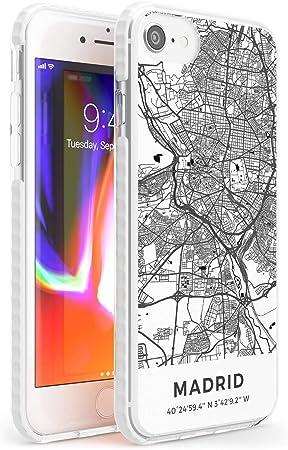 Case Warehouse Mapa de Madrid, España Impact Funda para iPhone 6 TPU Protector Ligero Phone Protectora con Viaje Pasión De Viajar Europa Ciudad Calles: Amazon.es: Electrónica