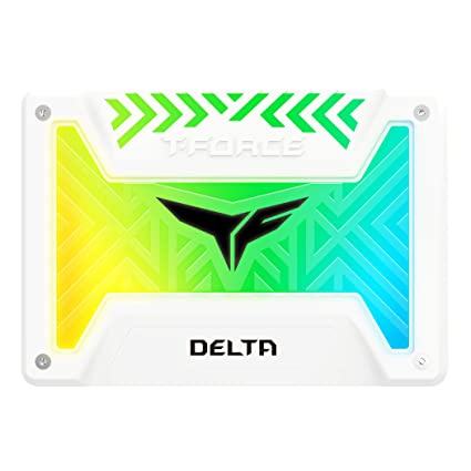 TEAMGROUP T-Force Delta RGB SSD 250GB 2 5 inch SATA III 3D NAND Internal  Solid State Drive (5V RGB Header) - White