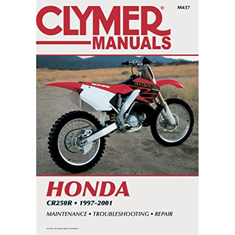 amazon com clymer repair manual for honda cr250r cr 250r 97 01 no rh amazon com 1998 honda cr250 service manual 2000 Honda CR250