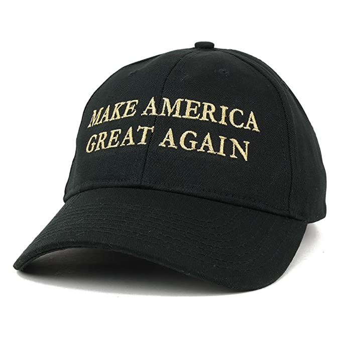 b665c3122 Made in USA Donald Trump Structured Cotton Cap - Make America Great Again  METALLIC GOLD -