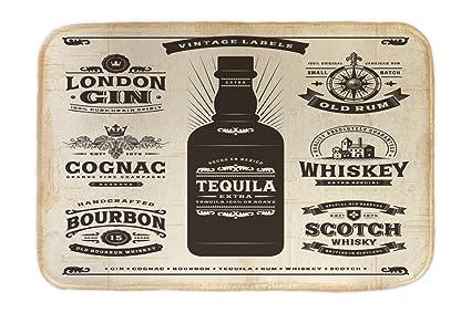 Cama Perro Motivo Retro Tequila impreso 40x60 cm Cocina