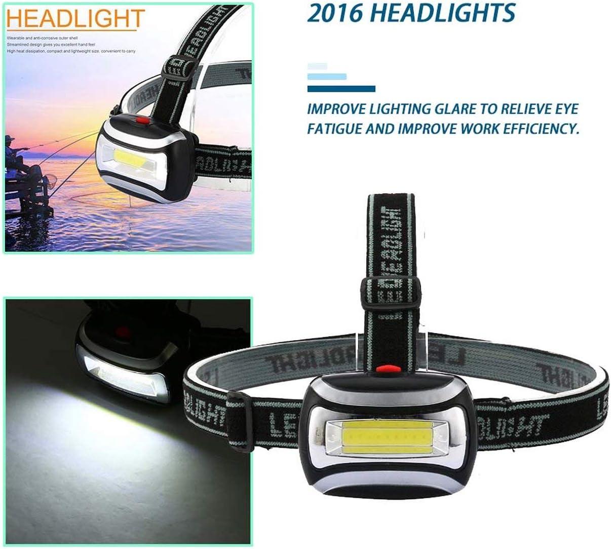 2000LM /Étanche LED Phare Phare Lampe de Poche Lampe Frontale Lampe Durable Camping P/êche lampe de Poche noir