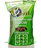 Bentilia Gluten Free Lentil Pasta, Green Lentil Elbow Macaroni Large - 1 lb Pack; 100% Natural, Low Glycemic Index, High Protein & Fiber, Non-GMO, Kosher Pasta