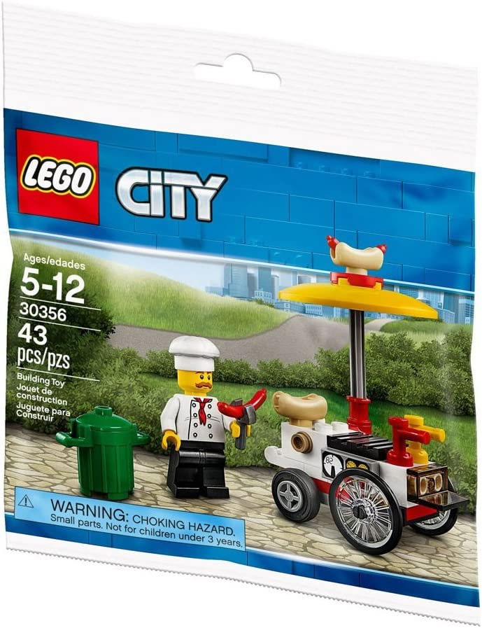 New Sealed Hot Dog Stand 30356 LEGO City Polybag