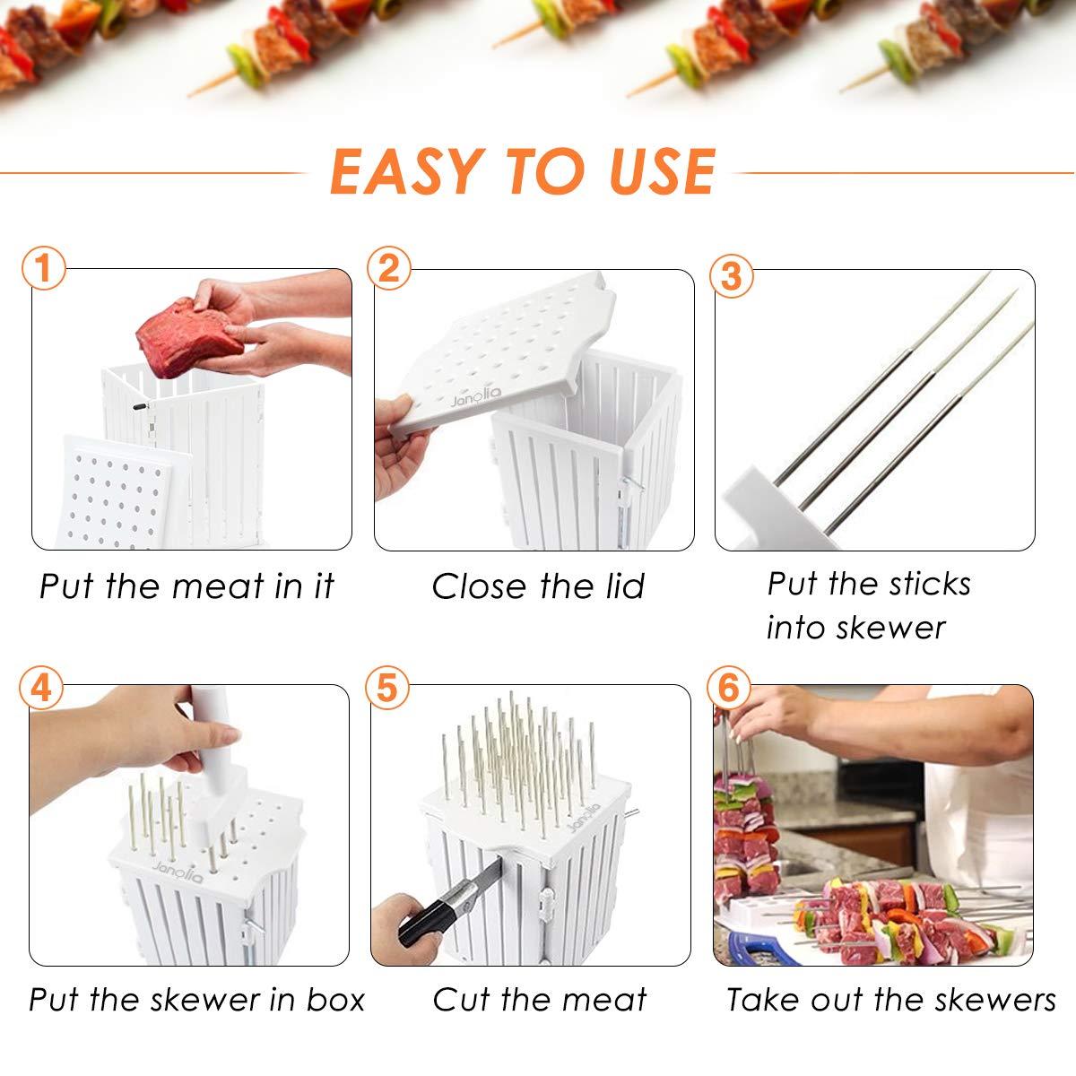 Amazon.com: janolia 36 agujero pinchos de alimentos ...