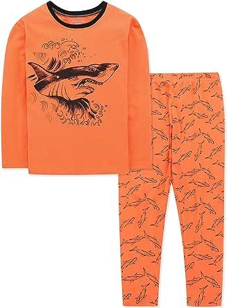 DAUGHTER QUEEN Pijamas Niños, Pijamas de Manga Larga para Niños de 1 a 7 Años, Pijama Niño Invierno de 100% Algodon, Ropa de Dormir Niño