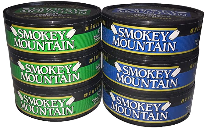 Wintergreen Pouches + Wintergreen 6 Can Sampler Pack Smokey Mountain Snuff