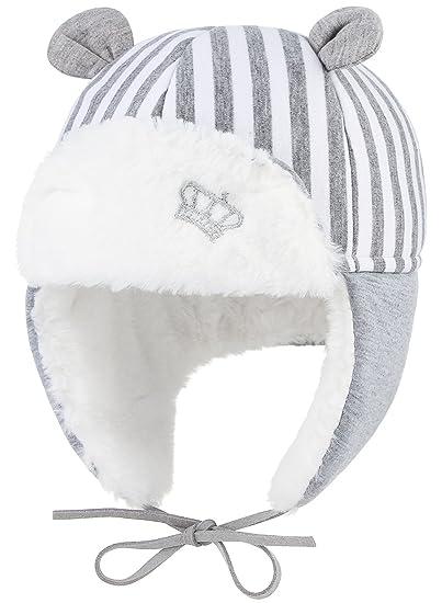 La Vogue Gorros Gorras Aviador para Bebé Niñas Niños con Orejeras Caliente  Invierno Gris  Amazon.es  Ropa y accesorios 35667bafc54