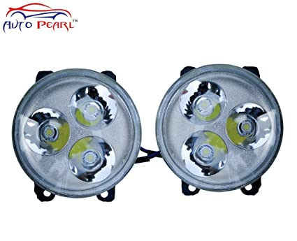 Auto Pearl High Power 3 LED DRL Fog Lamp with Wiring kit and Switch for -  Ford Ecosport (Xtra Small, Set of 2, Black)