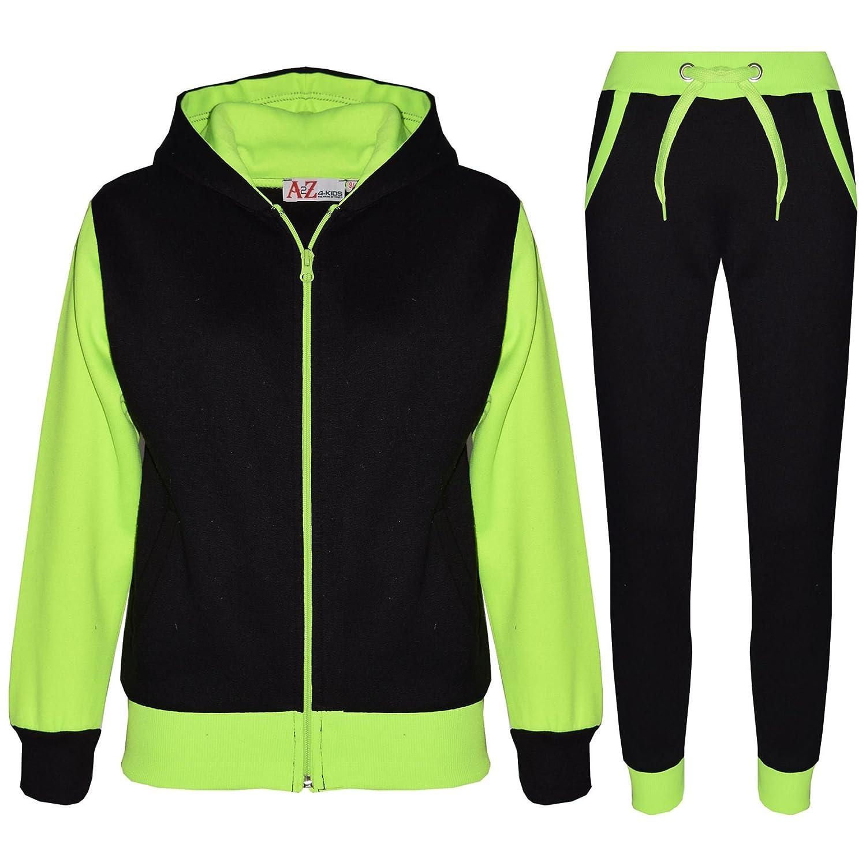 Kids Tracksuit Girls Boys Fleece Hooded Hoodie Bottom Jogging Suit Jogger 7-13Yr
