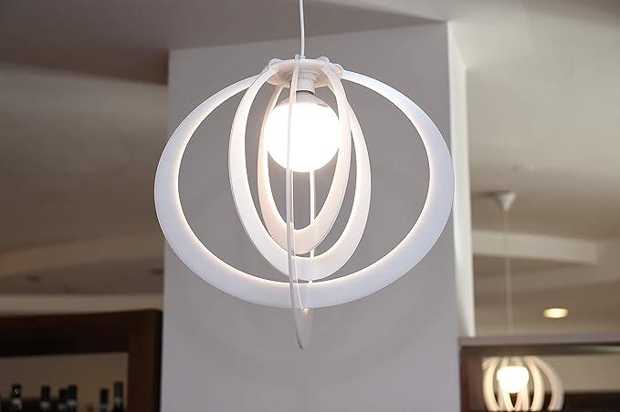 Lampadario d arredo in plexiglass bianco amazon illuminazione