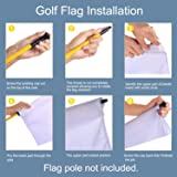 KINGTOP Solid Golf Flag with Plastic