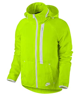 bddb6276b473d Nike Tech Aeroshield Moto Cape Women's Jacket (XL, Volt/White/White ...