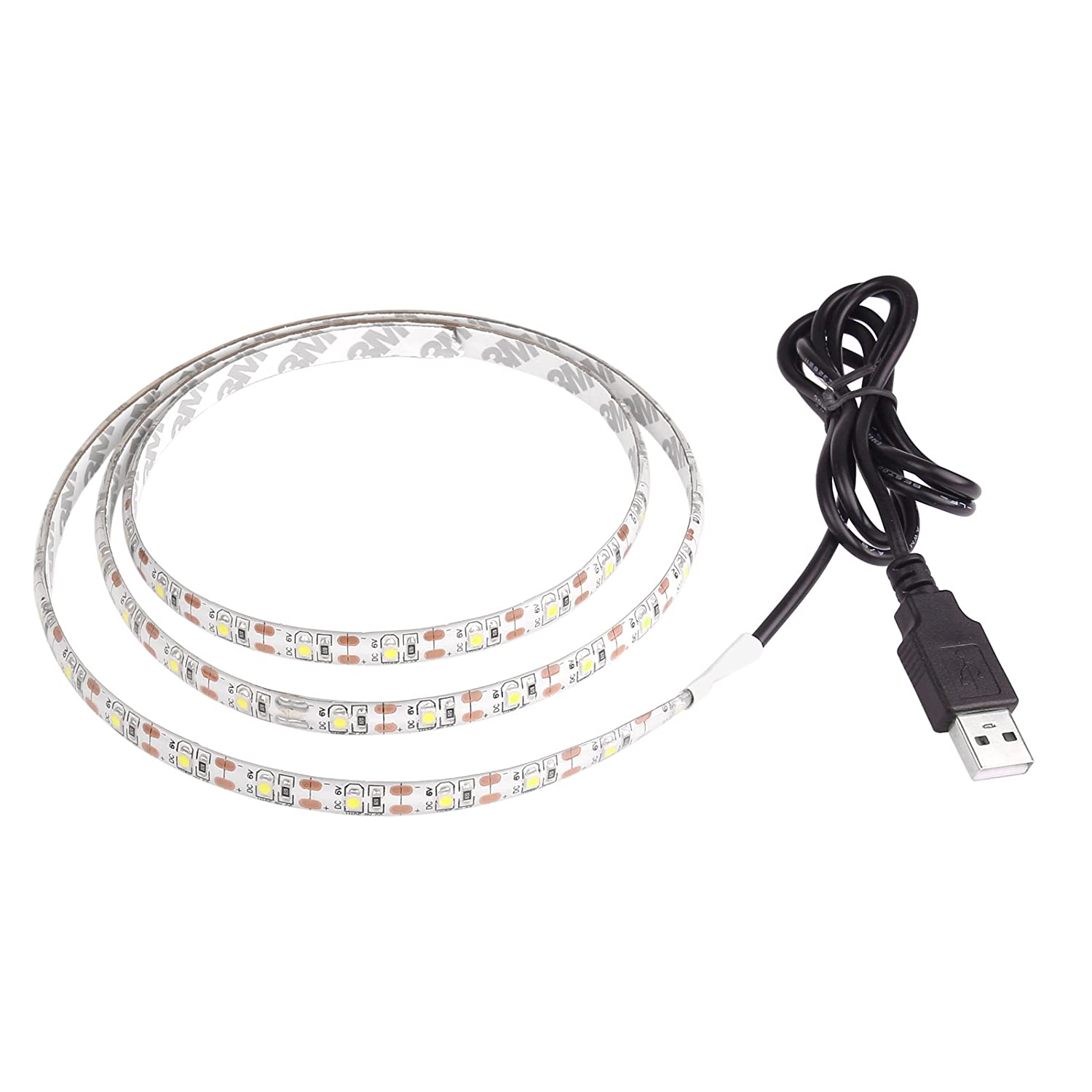 Lemonbest 2m Resin Flexible USB LED Strip Lights 3528smd 120leds 5V Waterproof Soft Warm White
