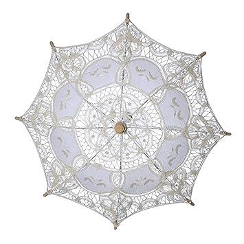 BESTOYARD Paraguas del parasol del cordón de la boda para la decoración nupcial de la boda