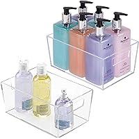 mDesign Zestaw 2 szuflad do optymalnego przechowywania w gospodarstwie domowym, pudełko do przechowywania produktów…
