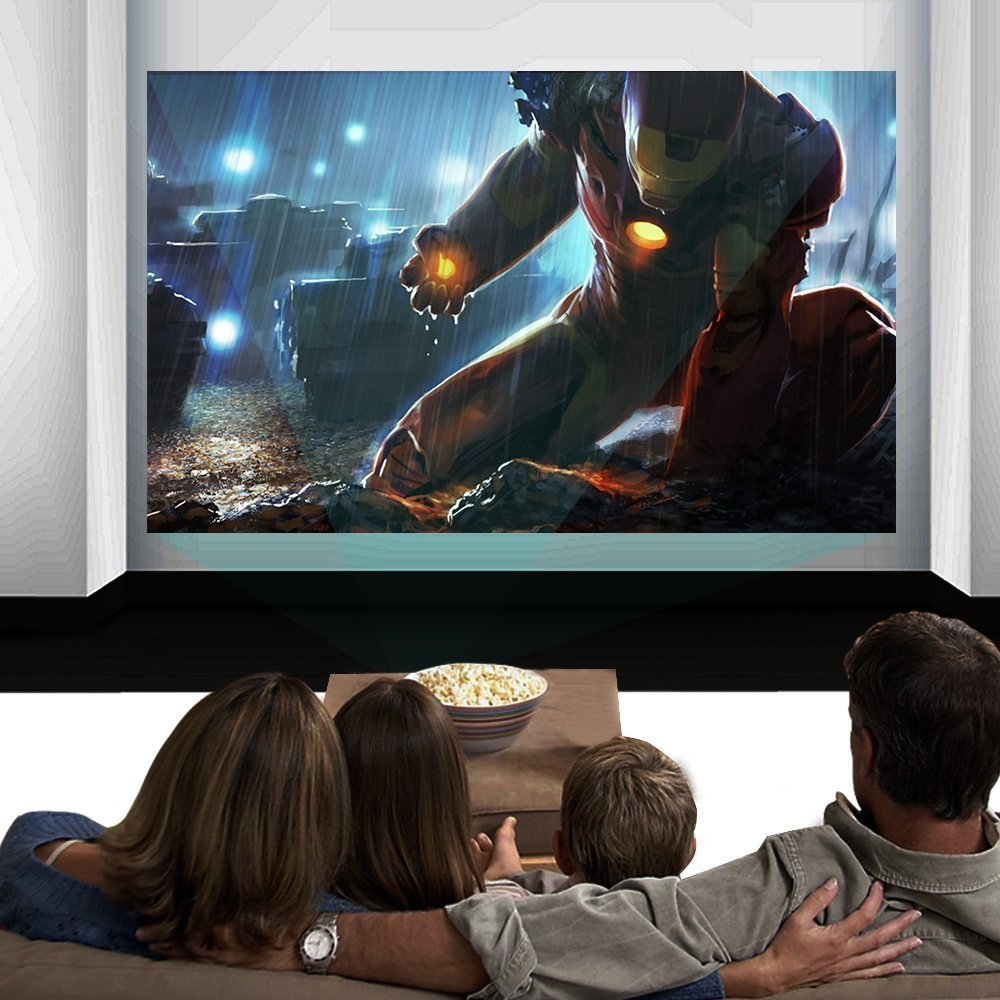 Paick 3200 Lumens LED Video Projector Multimedia Home Theater Movie Projectors Support HD 1080P HDMI VGA AV USB for Home Cinema TV Laptop Games Smartphone by Paick (Image #4)