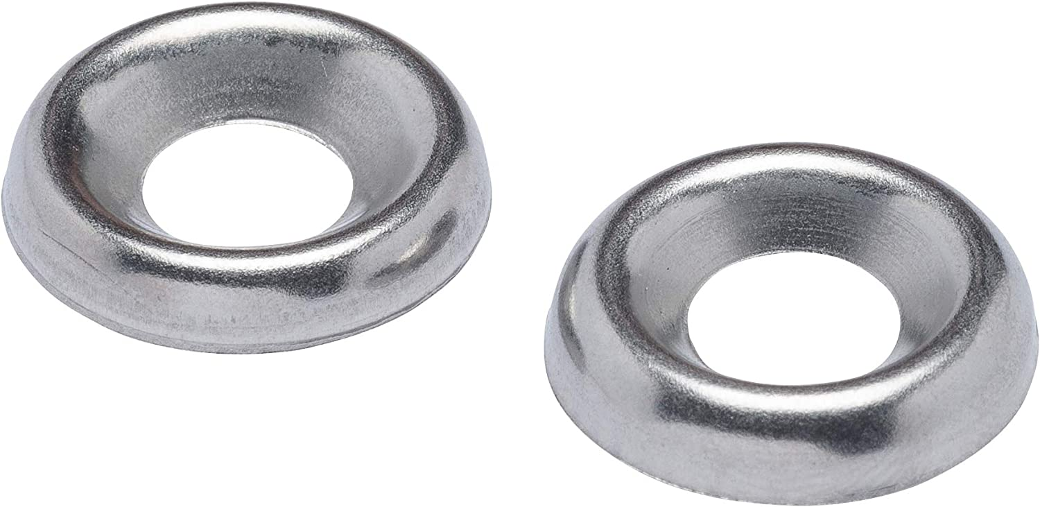 Stainless Steel 100 Pack #14 Stainless Cup Countersunk Finish Washer, by Bolt Dropper 18-8 - Choose Size 304