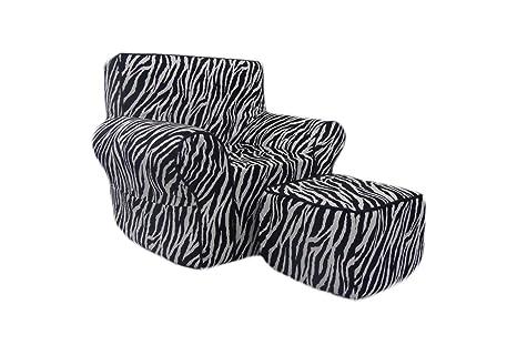Amazon.com: Fun Muebles Silla De Espuma De Fun Zebra ...