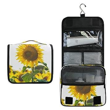 4483a4d419d0 Amazon.com : Makeup Bag Common Sunflower Cosmetic Pouch Large Travel ...